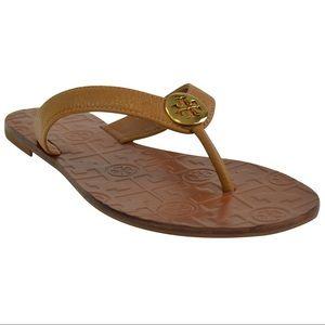 NIB Tory Burch Gold Logo Sandal